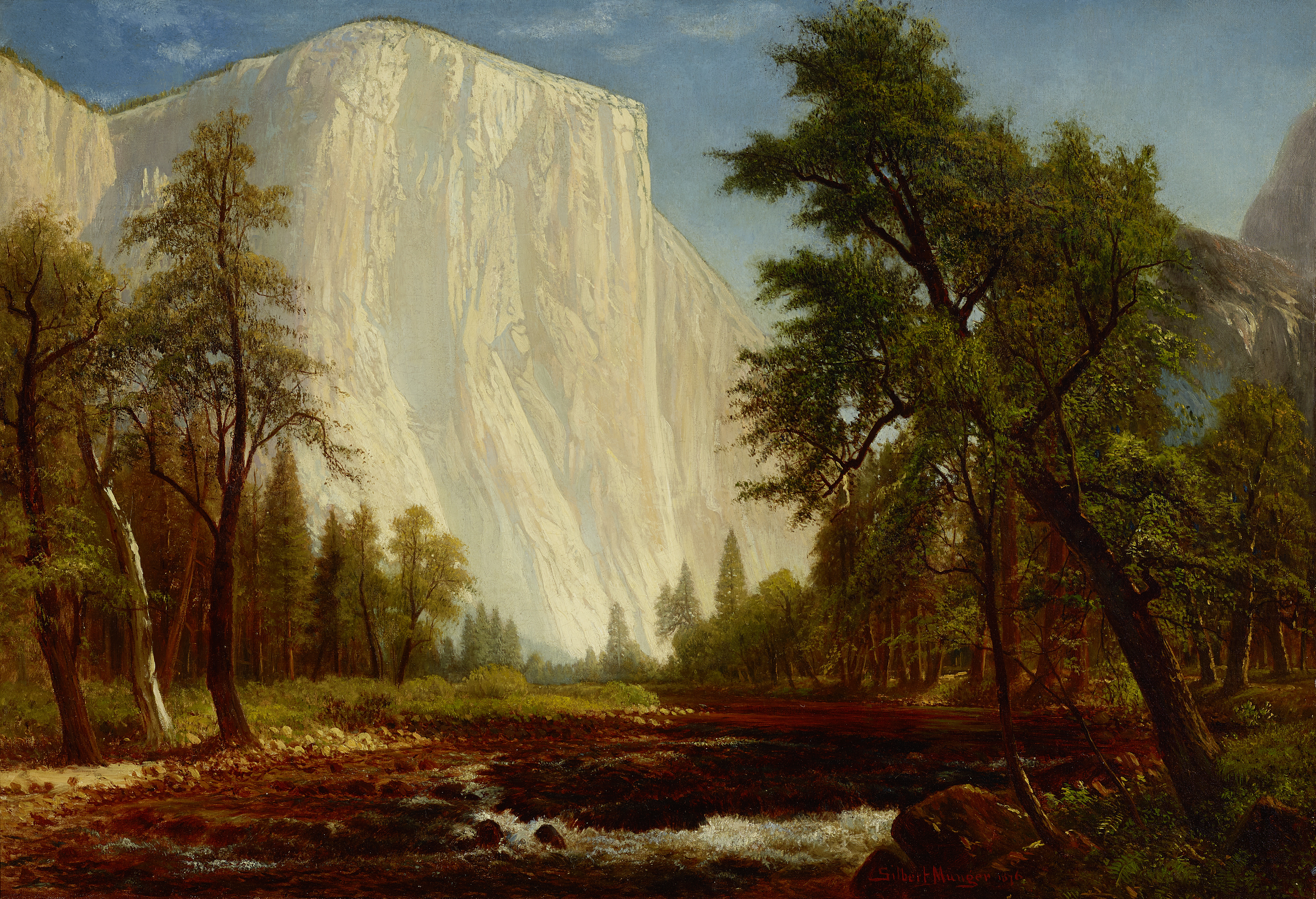 El Capitan in a Gathering Storm, by Gilbert Munger, painted in 1876.