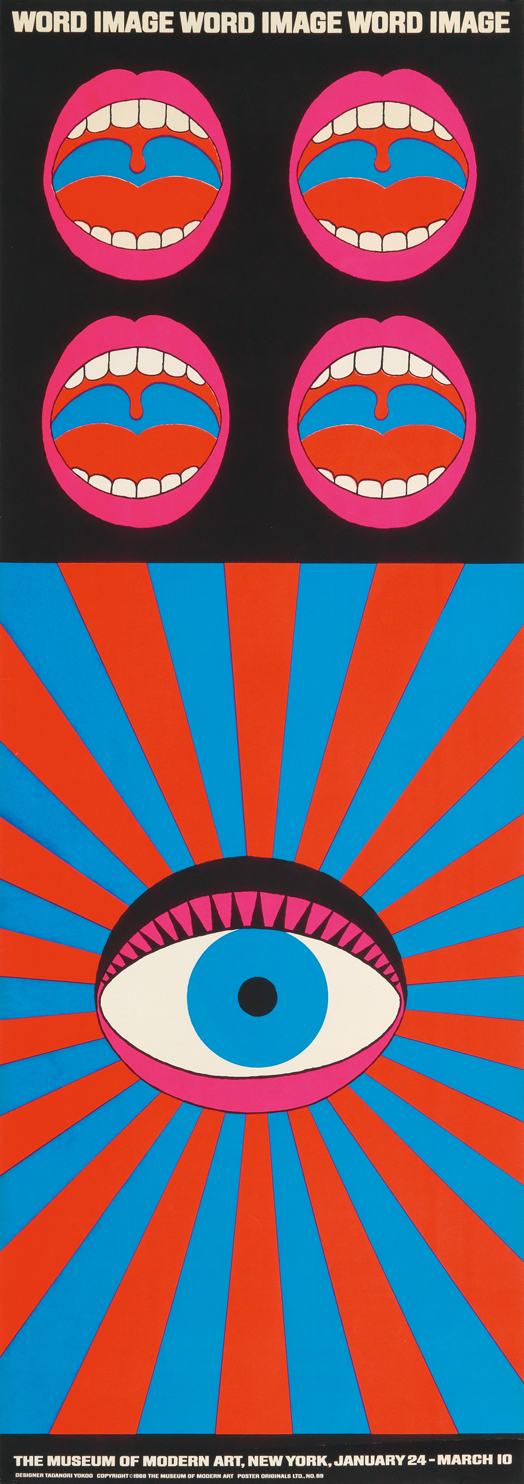 Word Image, a poster designed by Tadanori Yokoo for a 1968 show at the Museum of Modern Art (MoMA).