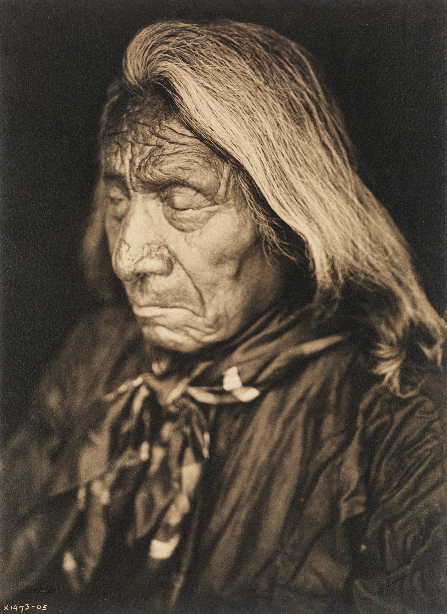Edward S. Curtis's portrait of Oglala Lakota leader Red Cloud.