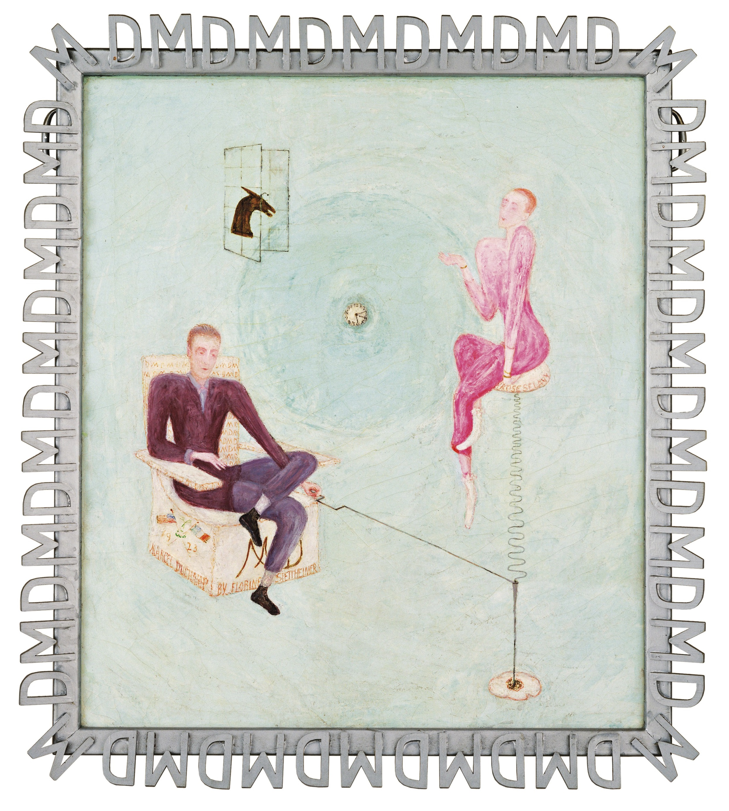 Portrait of Marcel Duchamp and Rrose Sélavy, a 1923 painting by Florine Stettheimer.