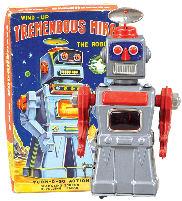 A Tremendous Mike robot toy, with original box.