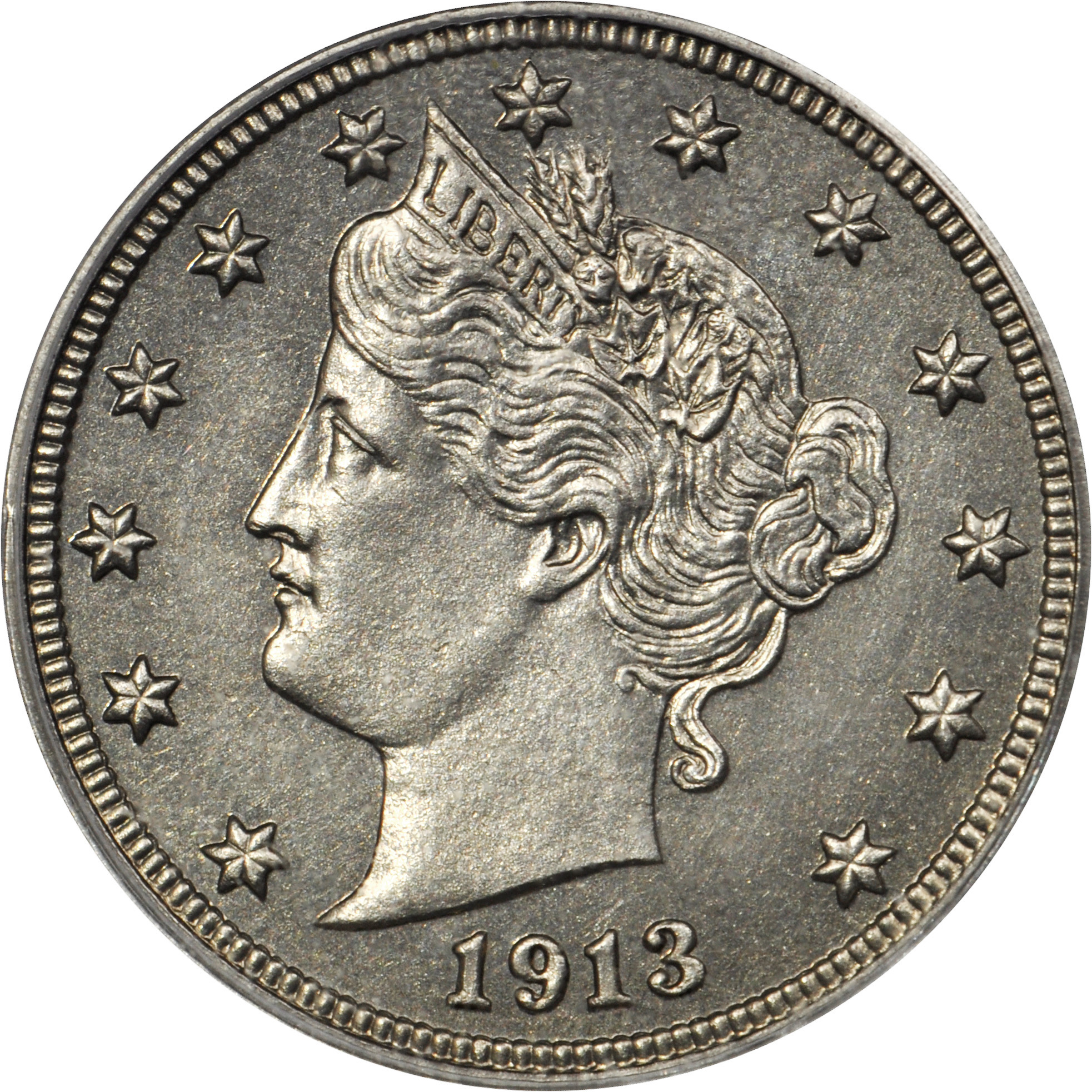 This Eliasberg 1913 Liberty Head nickel sold for $4.5 million, a world auction record for a coin made from a non-precious metal.