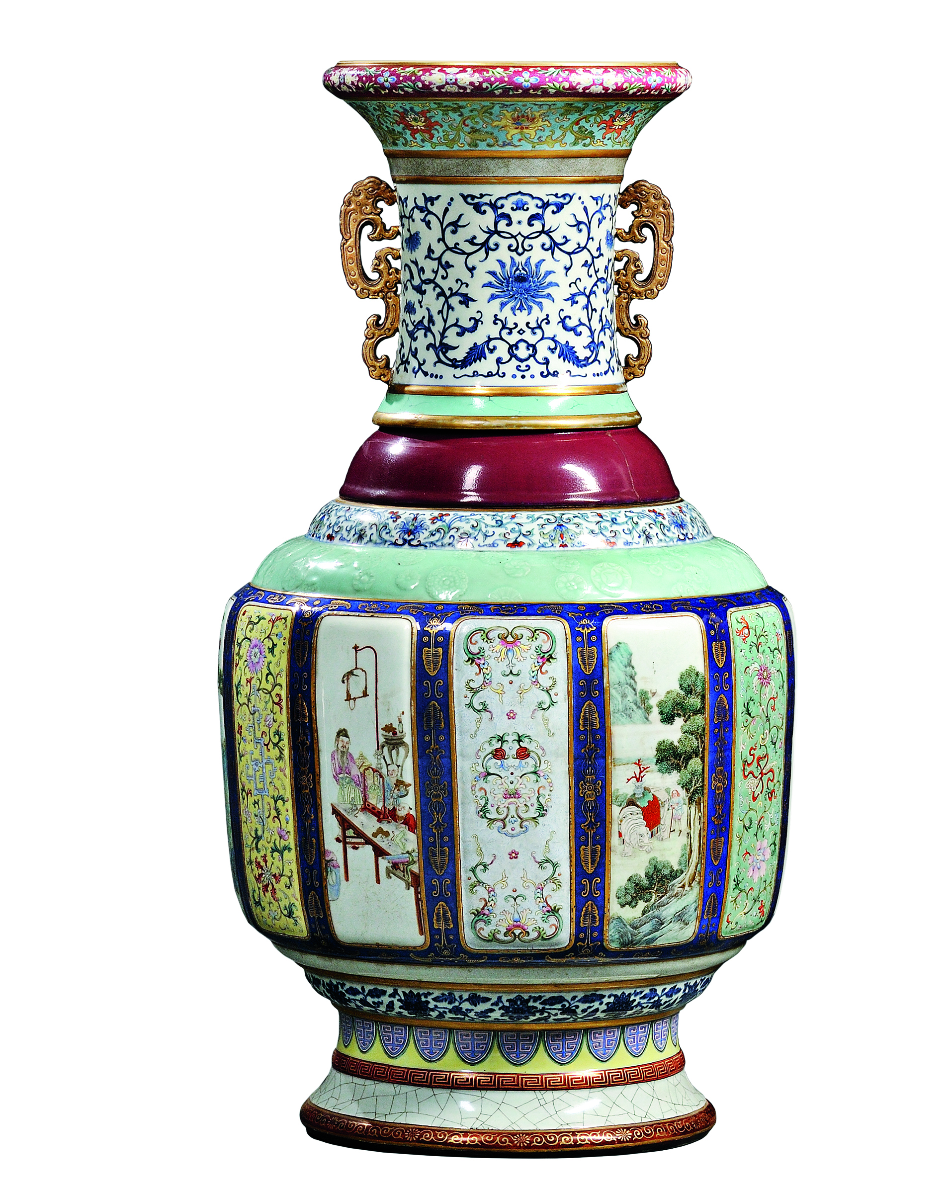 Monumental Fencai Flower and Landscape Vase sold for $24,723,000