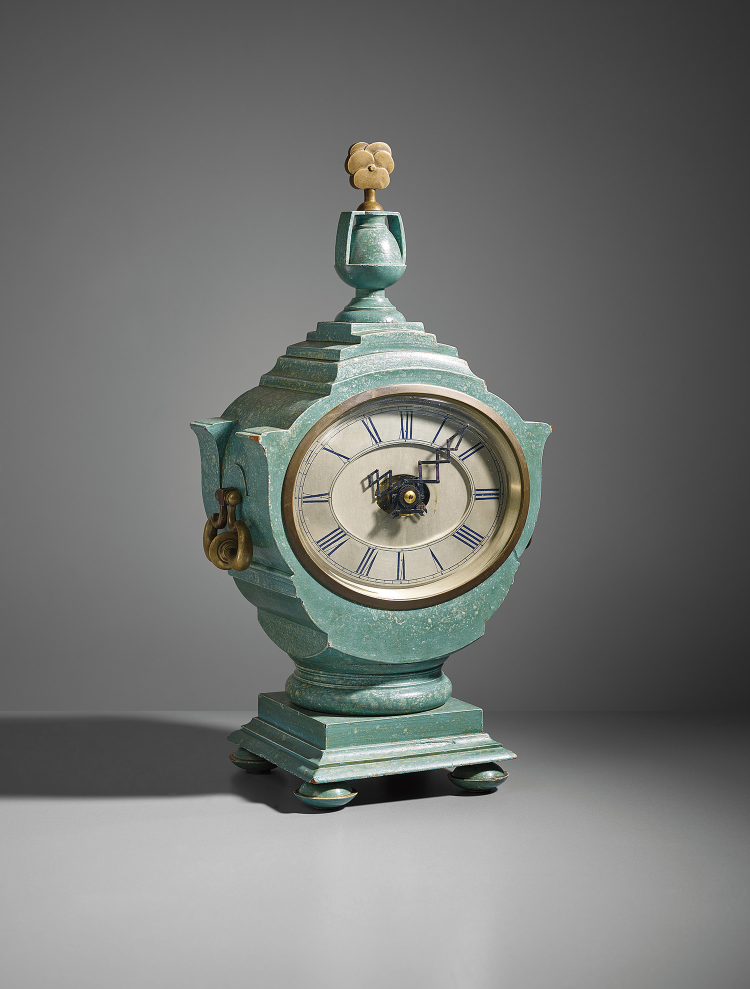 "A mantel clock designed by Sir Edwin Lutyens [pronounced ""Letchens""] for the Viceroy's House, New Delhi, circa 1930."