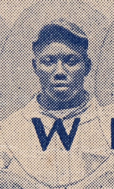 Josh Gibson's image from the 1935 Negro League Baseball broadside.