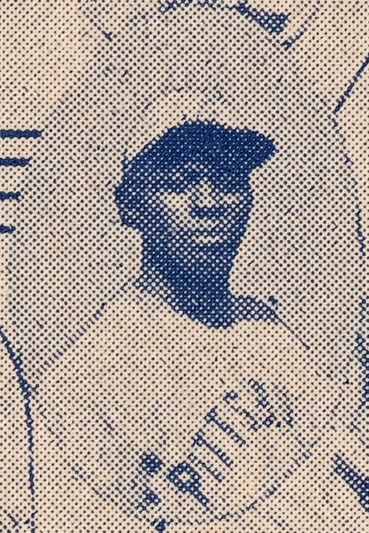 Satchel Paige's photograph from the 1935 Negro League Baseball broadside.