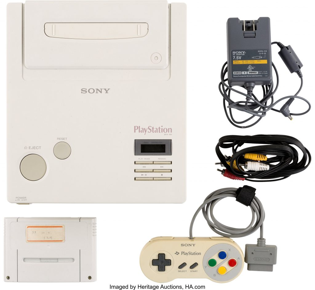 The complete set of materials that comprise the Nintendo PlayStation prototype, which will be offered at Heritage Auctions in March.