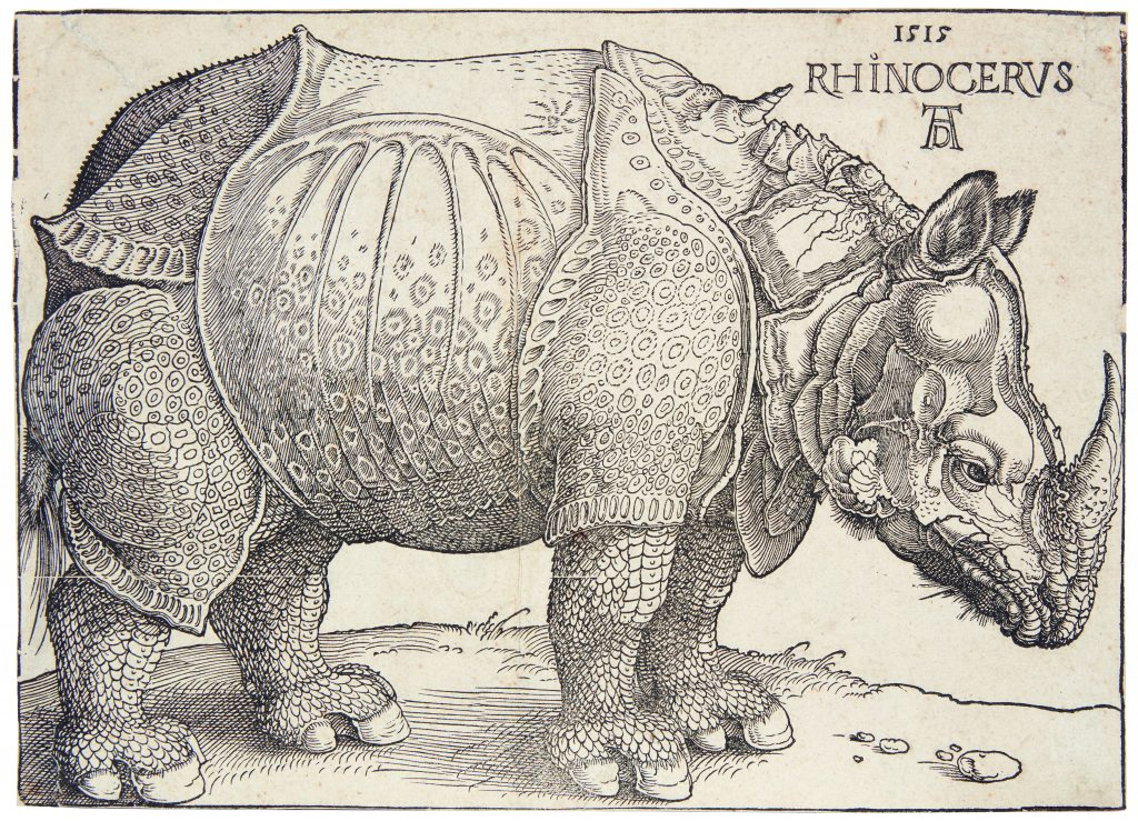 The Rhinoceros, an iconic 1515 woodcut by Albrecht Dürer, could sell for $18,000 or more at Freeman's.