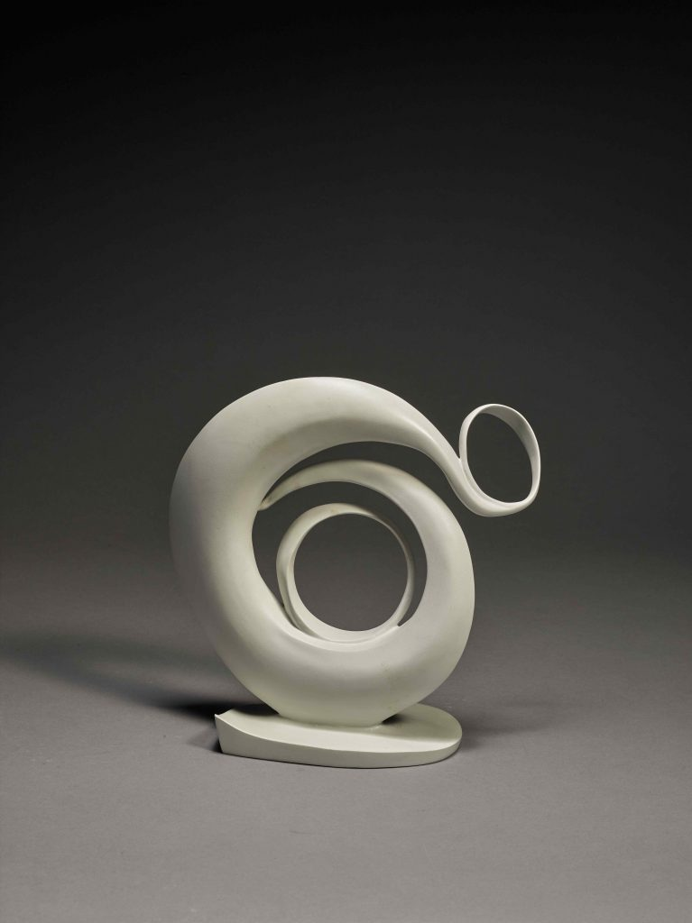 Abstraction, a sculpture modeled by Georgia O'Keeffe in 1946 and cast in bronze in 1979 or 1980. The first to go to auction from the ten-inch tall edition could sell for $300,000 or more.