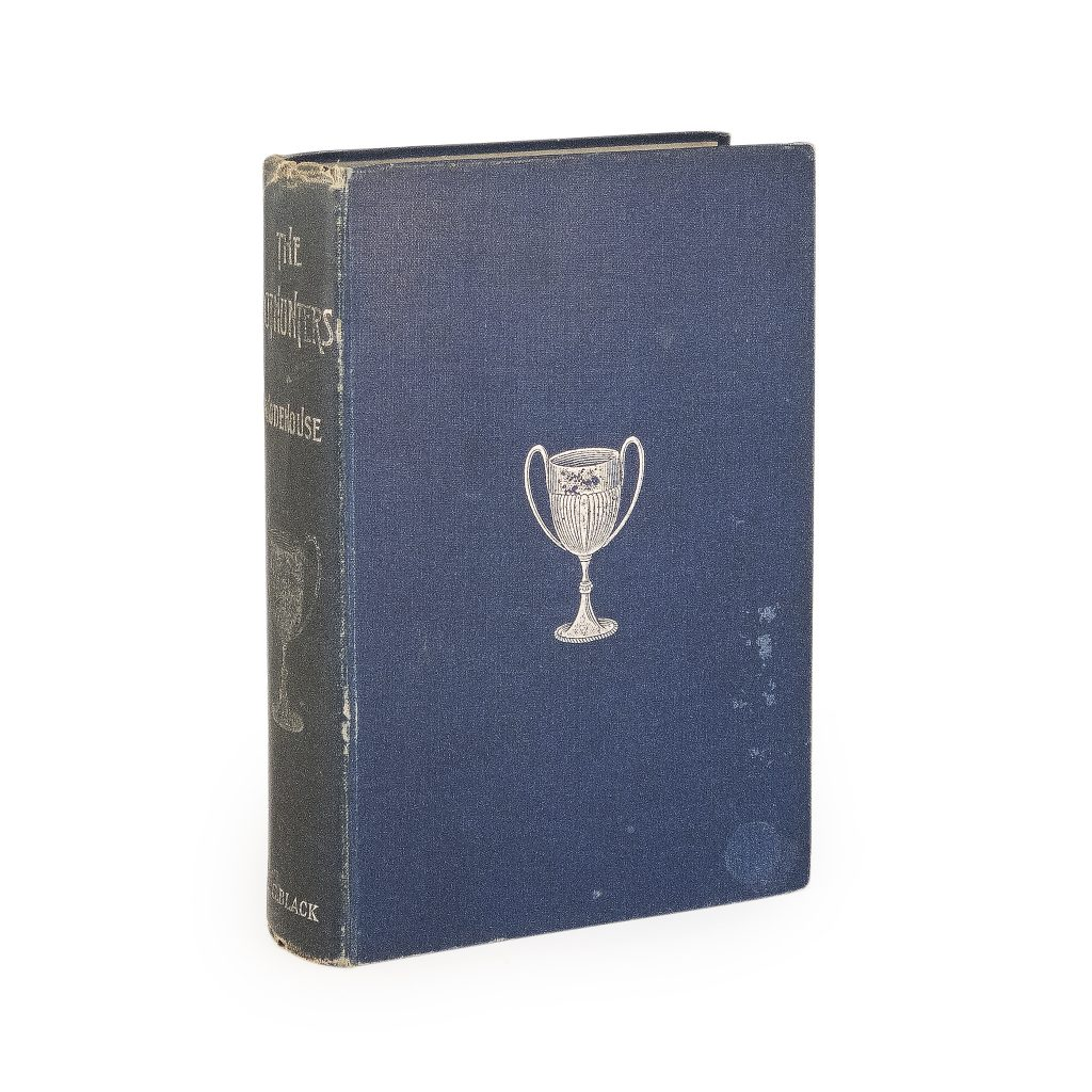 A first edition copy of The Pothunters, the debut novel by P.G. Wodehouse. The beloved English author also signed the book, which could command $3,000 or more.