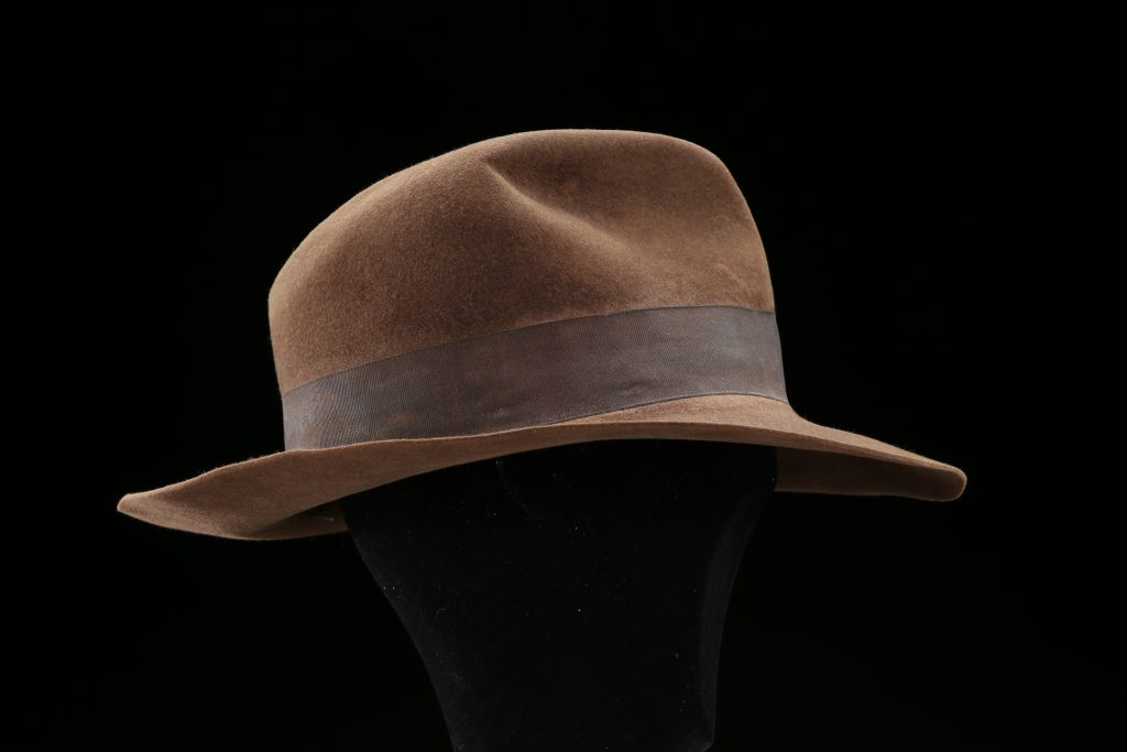 An Indiana Jones hat worn on screen by Harrison Ford in Raiders of the Lost Ark sold for more than $520,000 at Prop Store in 2015.