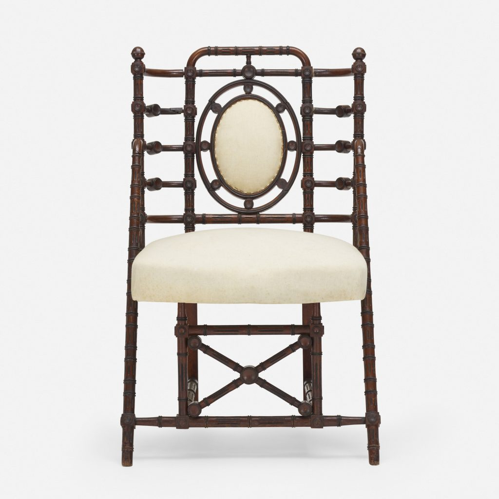 George Hunzinger explored and embraced new techniques that his 19th century contemporaries ignored, leading him to create striking pieces such as this chair.