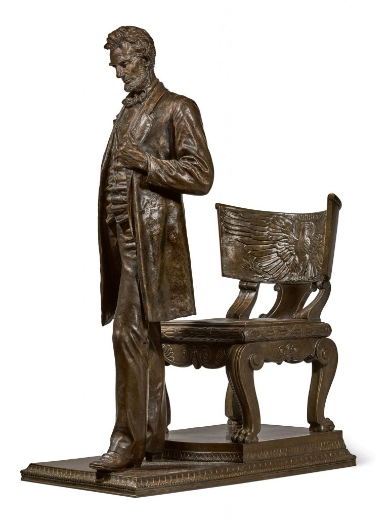 After Augustus Saint-Gaudens died, his widow fulfilled a wish to cast reduced-size versions of his Standing Lincoln statue. One of the 17 bronzes could command $900,000.