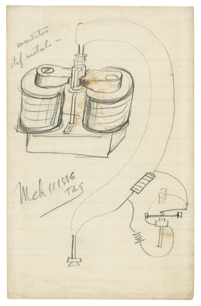 Thomas Edison Light Bulb Design Drawings, Plus a Period ...