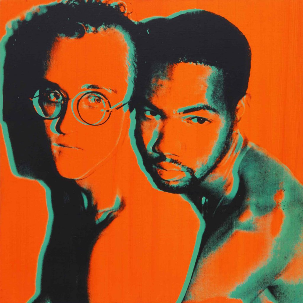 A circa 1983 Andy Warhol portrait of Keith Haring and his lover, Juan DuBose, could command $250,000 at Sotheby's.