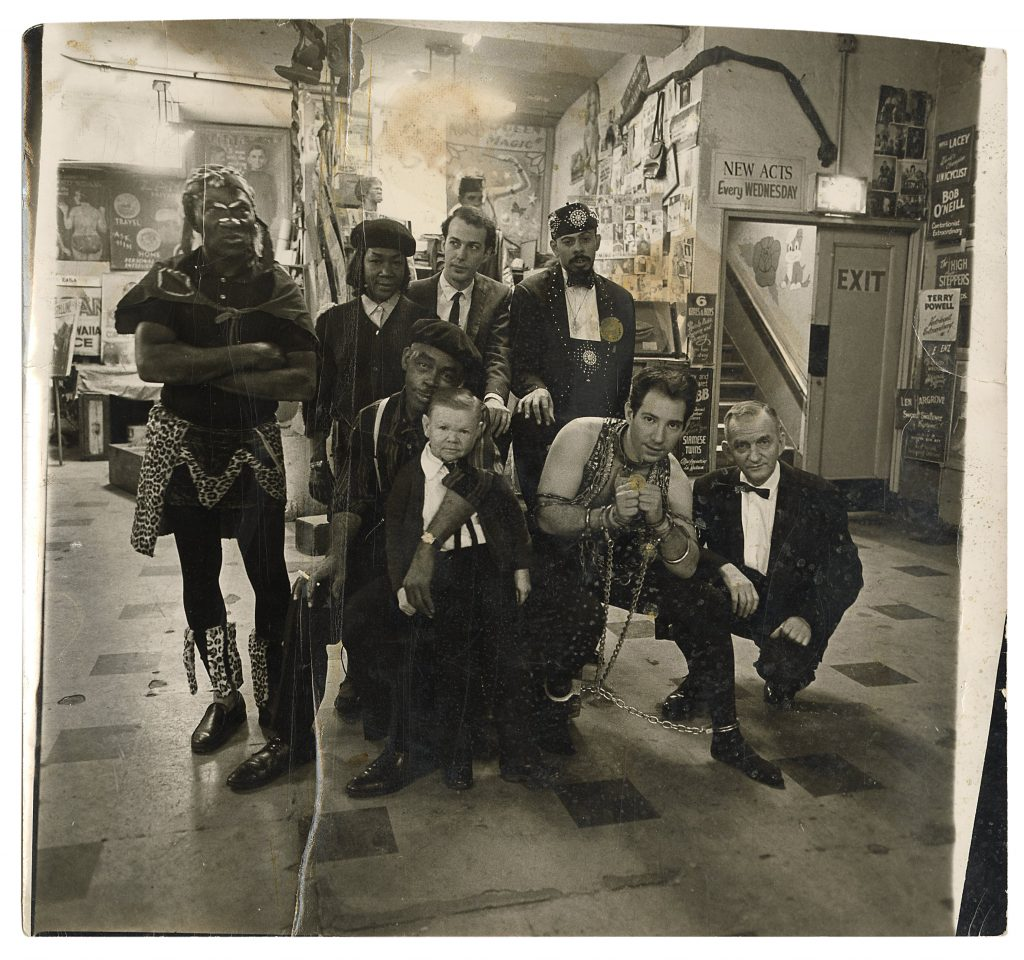 Also included in the sale is a circa 1965 group shot Diane Arbus took of the performers at Huber's Museum. It carries the same $10,000 to $20,000 estimate as the photos featuring Sandra Reed.