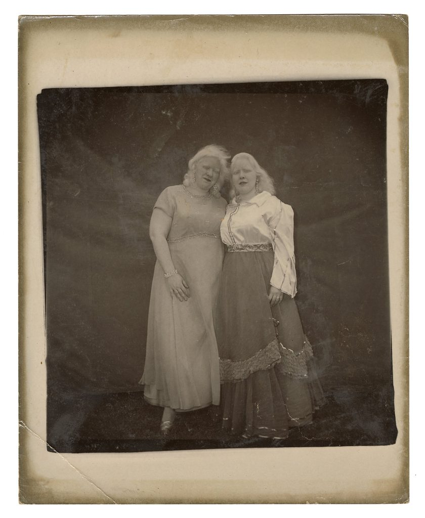 A Diane Arbus double portrait photograph of albino sword-swallower Sandra Reed (right) and her sister, Doreen, could sell for $20,000 or more at Potter & Potter.