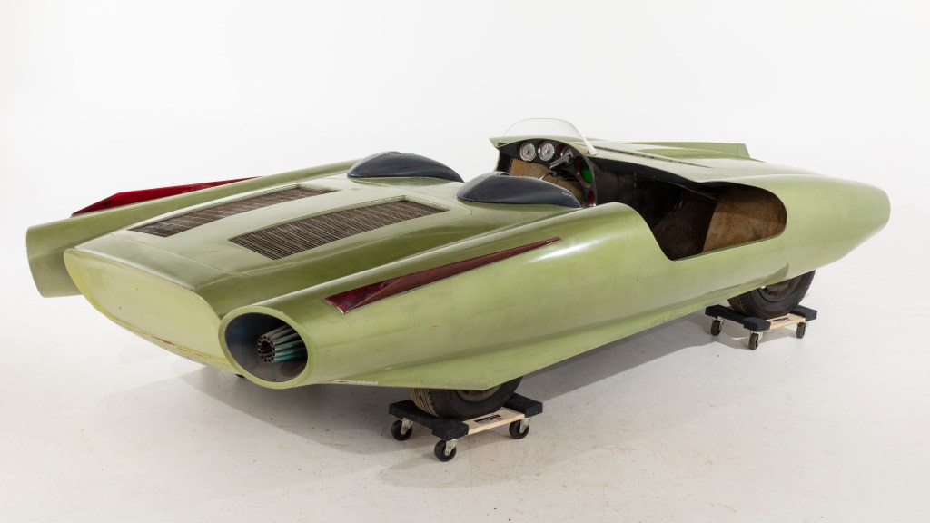 "John Bucci dubbed his unique concept car ""La Shabbla,"" which means ""the sword"", for its aerodynamic shape that slices through the air."