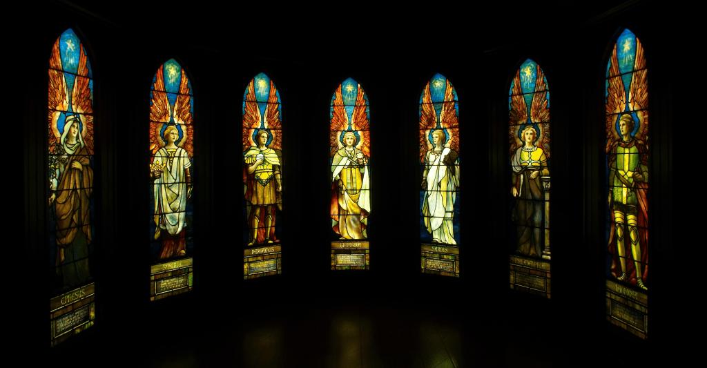 A complete set of seven Tiffany windows, recovered from a demolished church, warehoused for decades, restored, shown as a touring exhibit, and now consigned to Freeman's. The group could sell for $250,000.