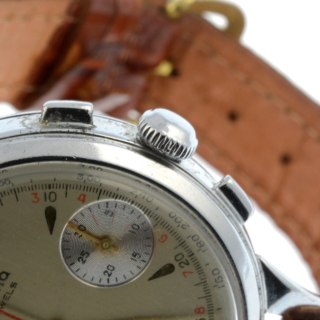 Other details that might tip off the paranoid: The crown button is fixed in place and cannot wind the watch.