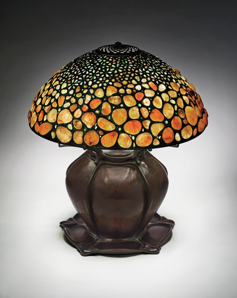 A Tiffany Pebble lamp, created by Tiffany Studios at the turn of the previous century, could command $150,000.