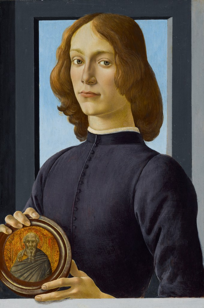 The Botticelli painting Young Man Holding a Roundel, dating to the late 1470s or early 1480s, could sell for more than $80 million at Sotheby's in January 2021.