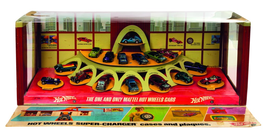 A 1968 Hot Wheels store display, created to launch the toy line with the biggest possible bang. This example, which is unusually complete, could fetch $50,000.