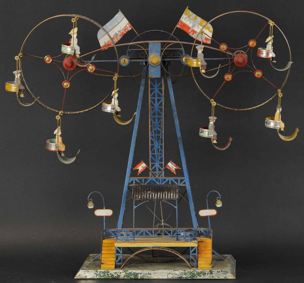 A double Ferris Wheel toy made around 1905 by Mohr & Krauss, a German company, could sell for $15,000.