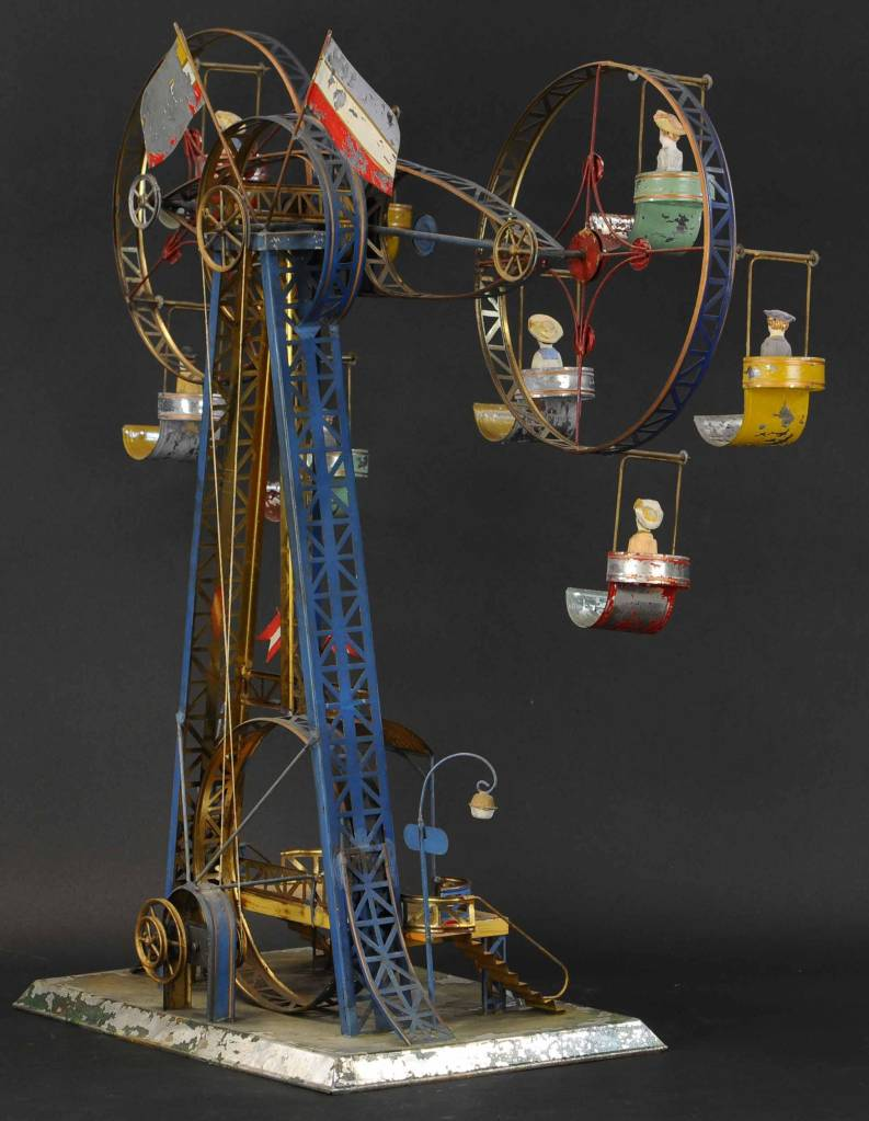 Another angle on the double Ferris Wheel toy. Only two other examples are known.