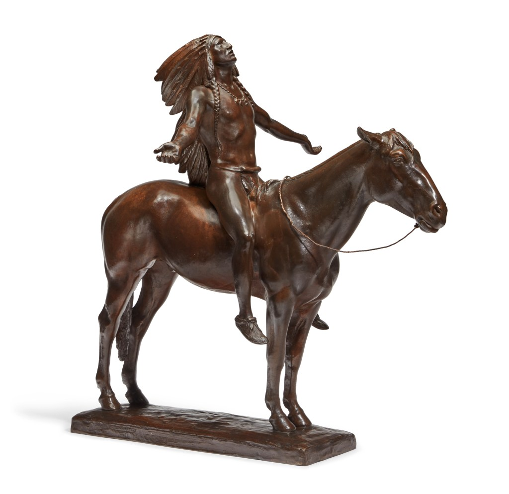 A 22-inch bronze of Cyrus Edwin Dallin's masterwork, Appeal to the Great Spirit, could command $70,000.