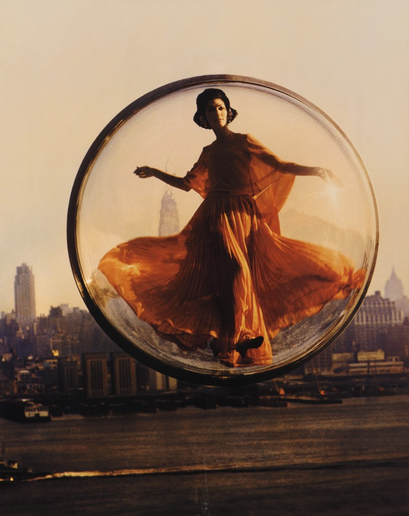 'Over New York', the first Melvin Sokolsky Bubble photograph, tested a concept that he would soon make famous. A print from a large limited edition of the color image could sell for $20,000.