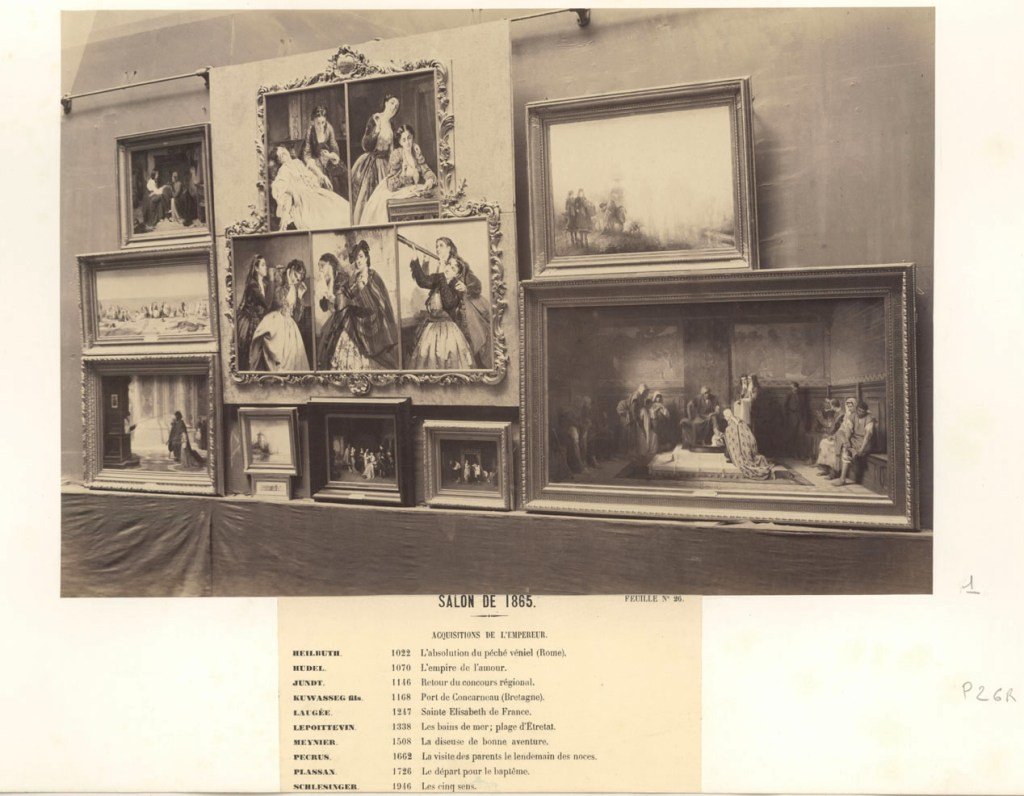 Martina Fusari located this 1865 image of Henri Guillaume Schlesinger's The Five Senses on display in that year's Paris Salon.