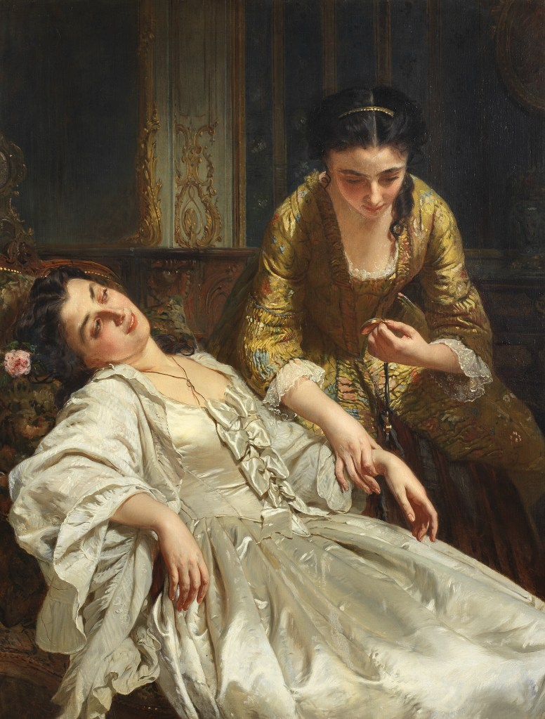 Touch, one of a themed set of five paintings by Henri Guillaume Schlesinger. The Five Senses could fetch $140,000 and a new world auction record for the artist.