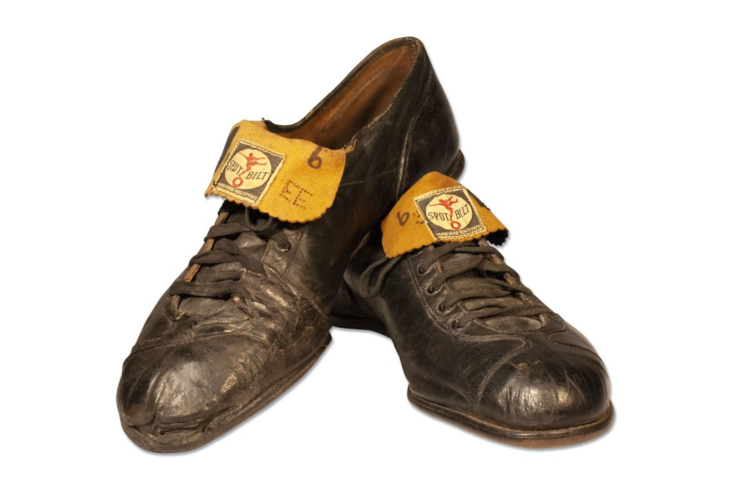 A pair of Ted Williams cleats, worn during his final at-bat as a major leaguer. As of March 19, they've already reached $63,000 and could well go higher.